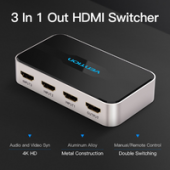 Vention VAA-S20 4K 3in 1 out HDMI Switcher