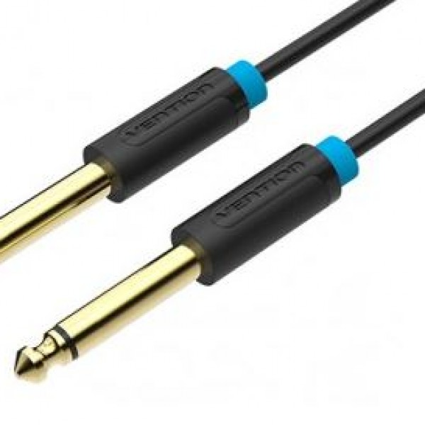 VENTION BAABK 6.5mm Male to Male Audio Cable 8M Black