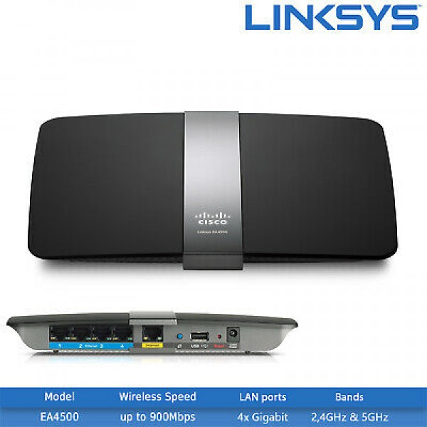 Linksys N900 Model EA4500 Dual Band Smart Wi Fi router